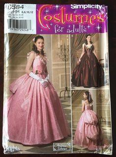 Phantom Of The Opera Gown Costume Simplicity Pattern 4479 Victorian SZ 6-12 UC  #Simplicity #PhantomoftheOperaGoneWithTheWind