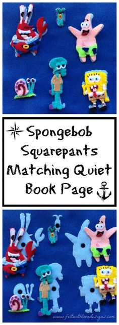 Quiet Book: Spongebob Squarepants Quiet Book Page – Part 3 (Free Pattern!)