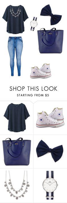 """""""Blue Demin"""" by liesje-2002 on Polyvore featuring mode, Uniqlo, Converse, Rebecca Minkoff, Givenchy en City Chic"""