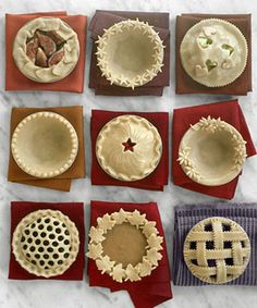 ideas for pie crusts! :0)