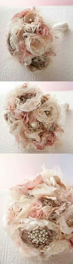 I love the cream and light pink theme of this bouquet. It's not too much, but definitely makes a beautiful statement and would go with almost any wedding palate. ~A