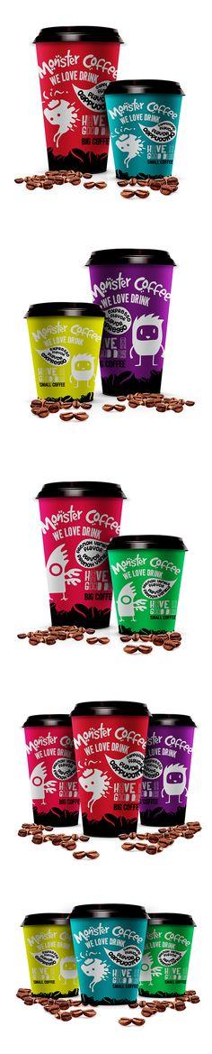 Monster Coffee - Copos de Café on Behance