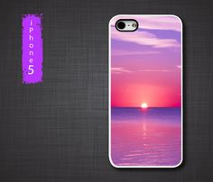 iPhone 5 cases  Cool Pink Ocean Sunset iPhone 5 case  by Percasive.