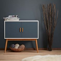 Retro Style Wooden Storage Sideboard/Cabinet Living Room Furniture, With 2 Doors in | eBay!