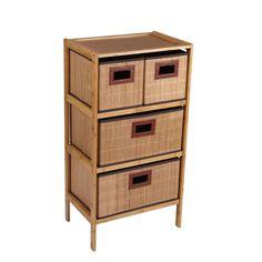 Household Essentials 4 Drawer Storage Chest. Household Essentials Bamboo  4 Drawer Storage Chest