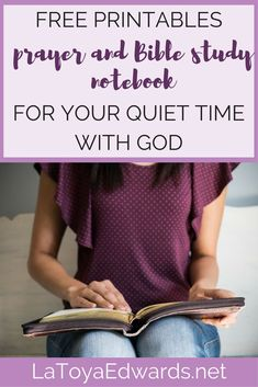 Download your FREE quiet time with God printables for prayer and Bible study. Crush your spiritual growth goals in 2018!  #worksheets #printable #freeprintable #biblestudy #prayer #spiritualgrowth #goals