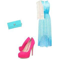 Pink/Blue/White