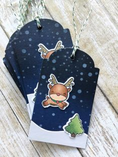 Christmas Tag featuring Mama Elephant Reindeer Games