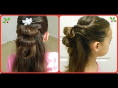 Double Conch Pigtails / Hairstyles Holiday Season/ Bonita Hair Do - YouTube