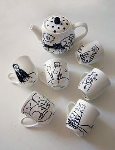 Cat tea set
