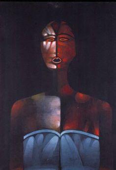 Jerzy Nowosielski | Czarna pływaczka / Swimmer in Black | oil on canvas