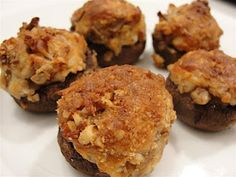 There's always thyme to cook...: Stuffed Mushrooms with Brie and Pecans