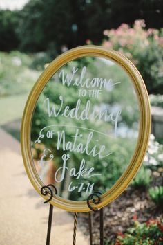 Mirror sign: http://www.stylemepretty.com/georgia-weddings/atlanta/2015/03/05/traditionally-elegant-botanical-garden-wedding/ | Photography: Harwell - http://harwellphotography.com/