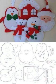 Moldes de Natal para Eva e Feltro | Toda Atual