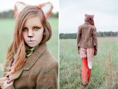 Halloween- what does the fox say? Halloween Cosplay, Halloween Make Up, Halloween Party, Halloween Costumes, Halloween Ideas, Fox Costume, Costume Makeup, Kitty Costume, Diy Costumes