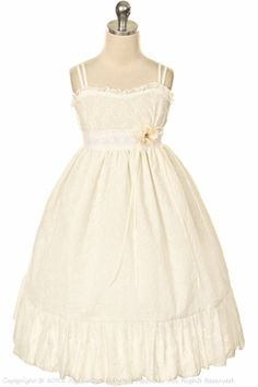 """These are cute for the girls. They're white, but not froufrou and """"mini-bridal"""" with cardigans and cowboy boots"""