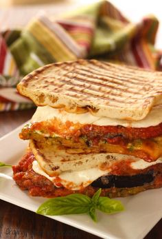 This is the quickest and easiest Meatless Monday dinner if you use Dominex Eggplant Cutlets. Healthy Dinner Recipes, Healthy Snacks, Vegetarian Recipes, Healthy Eating, Cooking Recipes, Vegan Eggplant, Eggplant Parmesan, Panini Recipes, Food Menu
