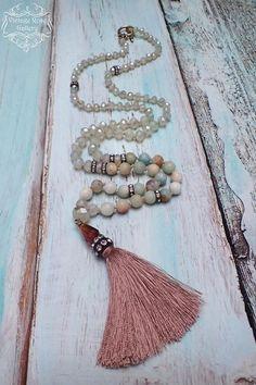 Silk Tassel Necklace Boho Chic Necklace Statement