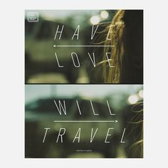 Have Love Will Travel - New York based Wander. Keenan Cummings and Jeremy Fisher asked illustrators to create a poster that succinctly shows the places they've been and the stories behind them. LA Hall created this one.