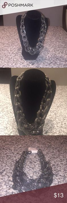 Necklace Chunky Twist Necklace, steel grey. You will love it have to see in person. Really nice Jewelry Necklaces