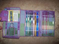 Crochet hook case from plastic canvas. Time to get creative!