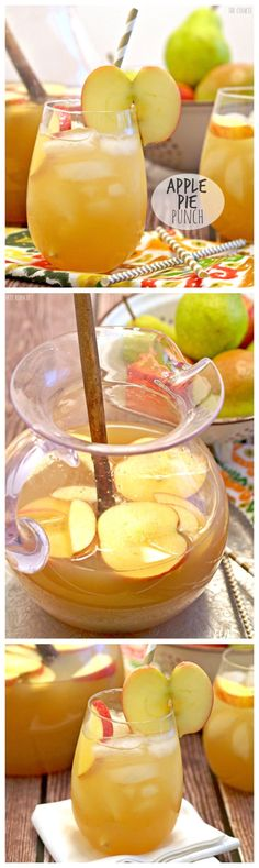 APPLE PIE PUNCH! Easily make it a cocktail or not. Perfect drink for Thanksgiving! This is so delicious and refreshing