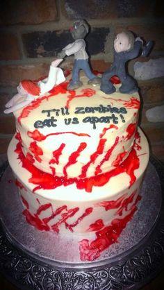 Custom ZOMBIE Wedding Cake Topper  Made to Order Bride by Devany, $100.00