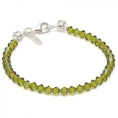 Colares - Kristallarmband mit Swarovski und Strass - Jadegrün | melovely.de Shop