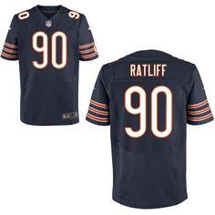 NFL Chicago Bears 90 Retliff Blue NFL Jerseys