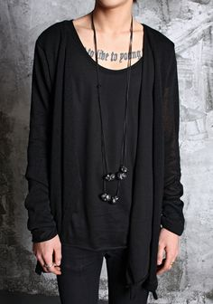 Goth grunge comfortable style.