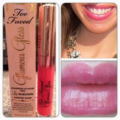Too Faced Glamour Gloss Too Faced Glamor Gloss in Chihuahua Bite. A natural plumping gloss with enhanced shine! Glamour Gloss is cooling on contact & instantly gives your pout a fuller appearance. BNIB. Never used or swatched. 100% Authentic. No Trades, No PP. Too Faced Makeup Lip Balm & Gloss