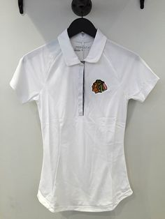 NEW ARRIVAL: Women's Nike Golf white polo! Stop by the #Blackhawks Store to get a closer look today!