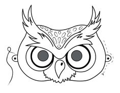 Printable owl mask preschool craft coloring pages.Free online activities printable owl mask preschool craft coloring pages for kids. Frozen Coloring Pages, Owl Coloring Pages, Halloween Coloring Pages, Printable Coloring Pages, Free Coloring, Coloring Sheets, Owl Mask, Bird Masks, Animal Mask Templates