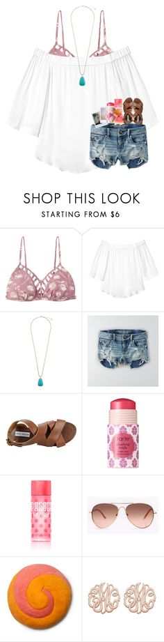 """""""do you guys want a """"what i packed for florida?"""""""" by ellaswiftie13 ❤ liked on Polyvore featuring RVCA, Rebecca Taylor, Kendra Scott, American Eagle Outfitters, Steve Madden, tarte and Victoria's Secret"""
