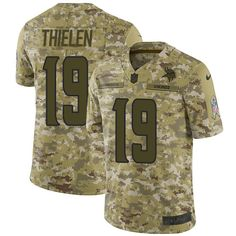 Youth Nike Limited Adam Thielen Minnesota Vikings Camo Jersey  NFL 2018  Salute to Service   165fb8143