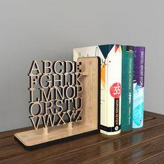 Free 3D model: Wooden Alphabet Bookend. Download here: http://www.lensdor.com/wooden-alphabet-bookend/
