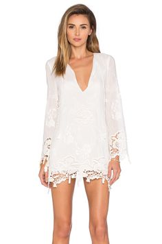 THE JETSET DIARIES Island Time Tunic in Ivory