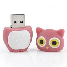 China suppliers cartoon gifts night owl Rubber usb flash drives