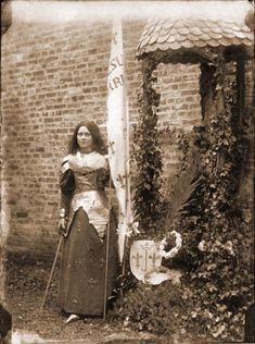 Saint Therese of Lisieux, starring in her play of Joan of Arc, January 21, 1895. Photo taken by her sister Celine (Sr. Genevieve).