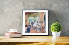 Bologna Fish Market Print/ Italy Art Print/ Bologna Art Print/ Giclée Print/ Oil Pastels Painting/ Wall Decor/ Ink Print/ Kitchen Wall Art Oil Pastel Paintings, Oil Pastels, Kids Room Paint, Italy Art, Fairytale Art, Kitchen Wall Art, Fish Art, Painting For Kids, Bologna