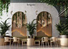 green leaves cafe on Behance Coffee Shop Interior Design, Interior Design Minimalist, Coffee Shop Design, Bar Interior, Restaurant Interior Design, Minimalist Bedroom, Resturant Interior, Showroom Interior Design, Contemporary Interior Design