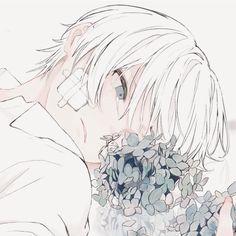 Anime Boy Hair, Cute Anime Boy, Anime Drawings Sketches, Anime Couples Drawings, Anime People, Anime Guys, Anime Artwork, Cool Artwork, Aesthetic Art