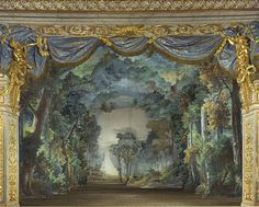The stage of Marie Antoinette's theater at the Petit Trianon image: (C) Château de Versailles, Dist. RMN-Grand Palais / Jean-Marc Mana...