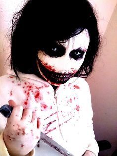 Jeff the killer cosplay, this is pretty awesome :3