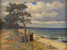 Losito, Luigi 1905 Bari - 1992 Berlin Kurisches Haff. Signiert. Öl/Lwd., 60 x 80 cm — Gemälde