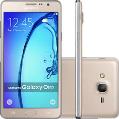 Smartphone Samsung Galaxy On 7 Dual Chip Android 5.1 Tela 5.5 8GB 4G Câmera 13MP - Dourado