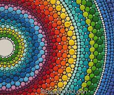 #elspethmclean #dotillism #rainbow #mandala ❤