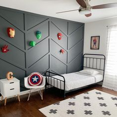 Designed by @heymandyvasquez Kids Bedroom Boys, Rug Cleaning, Wool Rug, Toddler Bed, Area Rugs, Furniture, White Rugs, Boutique, Design