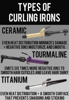 Different types of curling irons