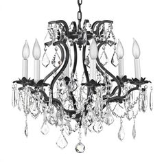 Luxurious Sunset Silver Chandelier With 7 Lights - Bed Bath ...